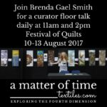 Curator floor talks at the Festival of Quilts